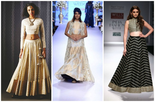 crop top lehnga  Collage2