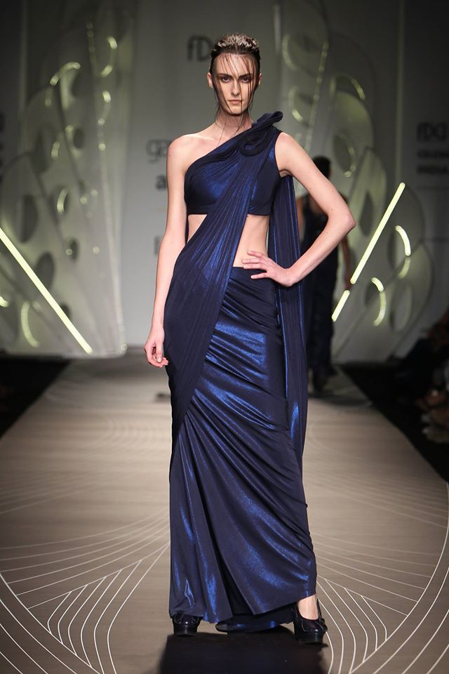gurav gupta facebook sari with twist