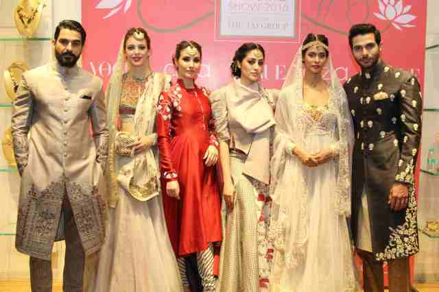 Models showcasing an exclusive preview of Anju Modi's bridal collection ...(1)