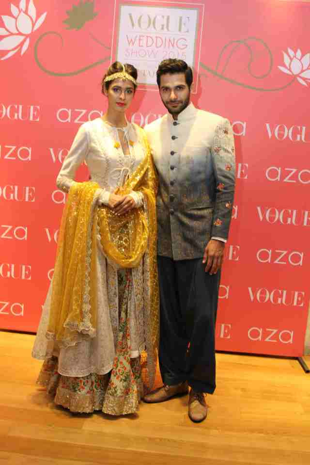 Models showcasing an exclusive preview of Anju Modi's bridal collection ...