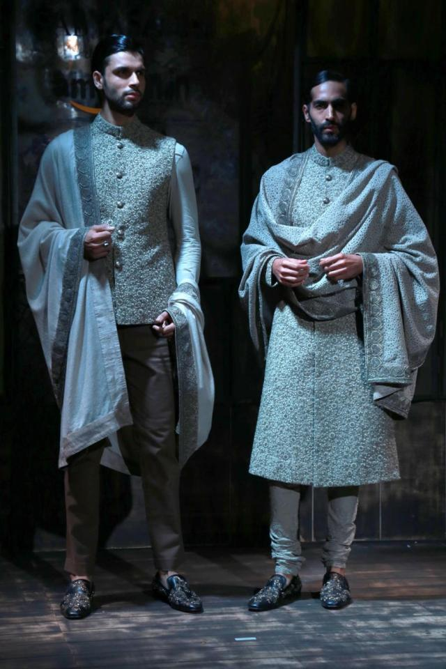 New Delhi: Opening show by Sabyasachi Mukherjee's at the Amazon India Couture Week (AICW) 2015, in New Delhi on July 29,2015.(Amlan Paliwal/IANS)