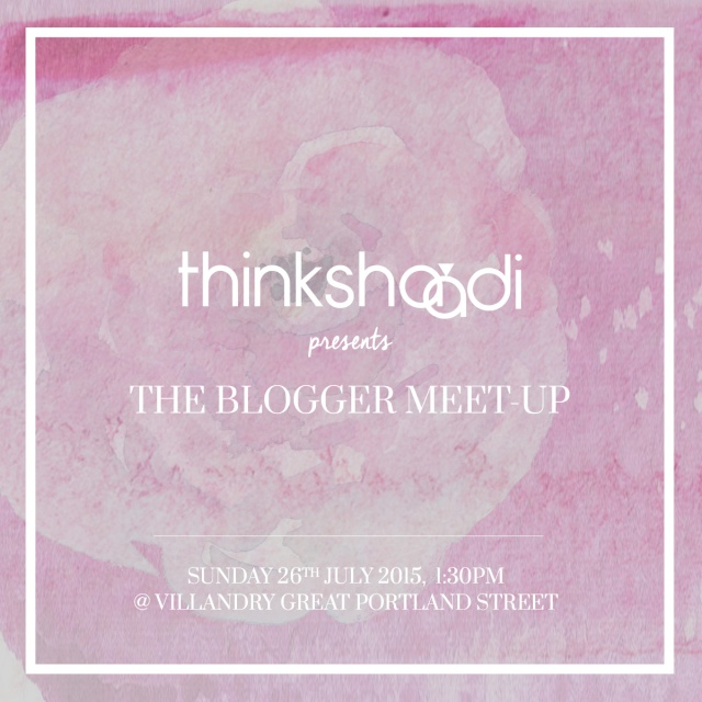 Think Shaadi Blogger Meet-Up Invite
